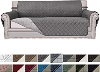 Easy-Going Sofa Slipcover Reversible Sofa Cover Furniture Protector Couch Cover Elastic Straps Pets Kids Children Dog Cat(Sofa, Gray/Light Gray)