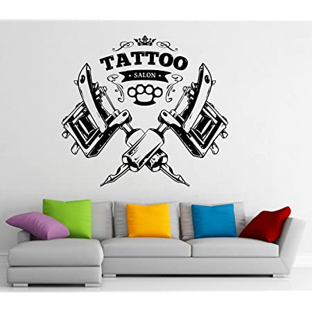 Wall Tattoo BVB lettering with Logo Yellow Wall Sticker holding Cushion Adhesive