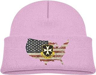 ADGoods Kids Children 65th Infantry Regiment United States Beanie Hat Knitted Beanie Knit Beanie For Boys Girls Gorra de b...