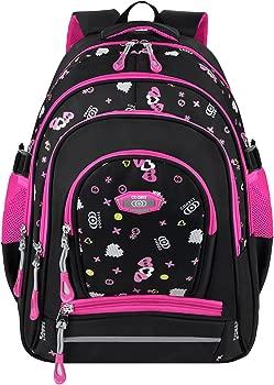 COOFIT Original Design Two-way Zipper School Backpack for Girls