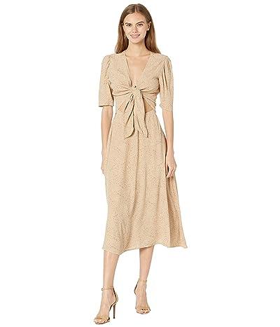 WAYF Rosalind Tie Front Midi Dress