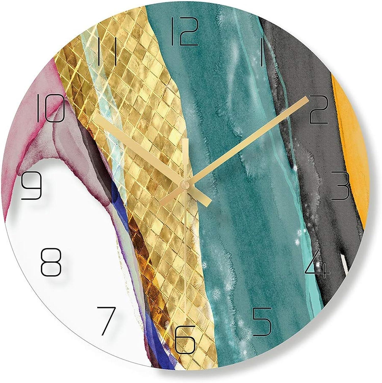 ZUEN Reloj de Parojo, Elegante Reloj Decorativo en Color, Estuche de Vidrio, Movimiento de Cuarzo silencioso escanear - Hogar Oficina Escuela Dormitorio