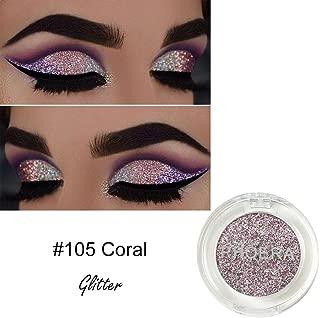 JustWin 8 Colors Eyeshadow Makeup Palette Glitter Eyeshadow Glow Shimmer Glitter Matte EyesShadow