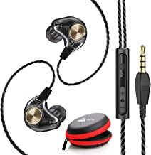 WeCool W001 Wired in-Ear Earphones with Mic 6D Super bass Stereo Sound, Sports fit Earphone Compatible with Android, iOS, Laptops with Free Carry case
