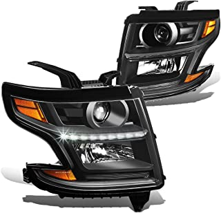 DNA Motoring HL-OH-CSUB15-BK-AM Headlight Assembly (Driver & Passenger Side)