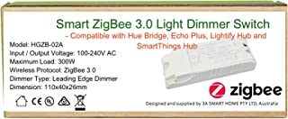 110-240V Smart ZigBee Light Dimmer Switch Compatible with Echo Plus, Hue Bridge, SmartThings, Lightify ZigBee Hub to Control Normal Lights, Home Automation and Voice Control …