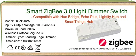 Smart ZigBee in_Ceiling Dimmer Switch for Lighting Automation Without Neutral Wire Available with existing Light Switch