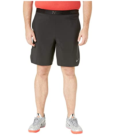 Nike Big Tall Flex Training Shorts (Black/Metallic Hematite) Men