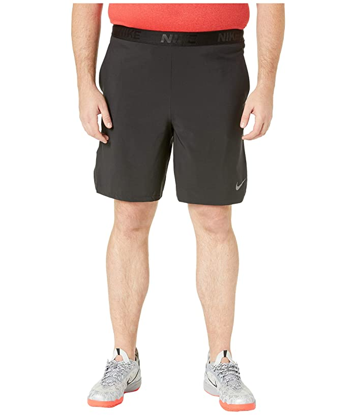 Nike Big Tall Flex Training Shorts (Black/Metallic Hematite) Men