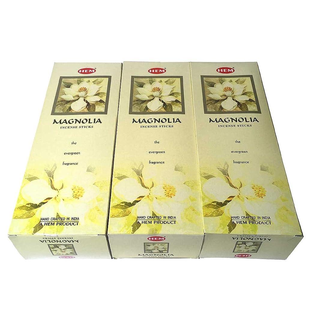 海外故国大使館マグノリア香スティック 3BOX(18箱) /HEM MAGNOLIA/お香/インセンス/インド香 お香 [並行輸入品]