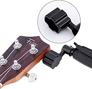 FINO Pro Guitar String Winder Cutter and Bridge Pin Puller, 3 in 1 Ukulele String Peg Winder Guitar Maintenance Tool,Black