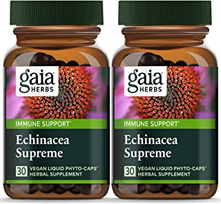 Gaia Herbs Echinacea Supreme Liquid Phyto-Capsules, 30 Count (Pack of 2)