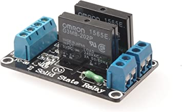 SMAKN® 5v 2-channel High Level Solid State Relay Board for Arduino Uno Duemilanove Mega2560 Mega1280 ARM DSP PIC