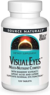 Source Naturals Visual Eyes Dietary Supplement - Multi-Nutrient Complex With Bilberry Extract, Lipoic Acid and Lutein - 12...