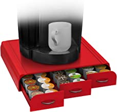Mind Reader 'Anchor' Triple Drawer Single Serve Coffee pod Holder, Red