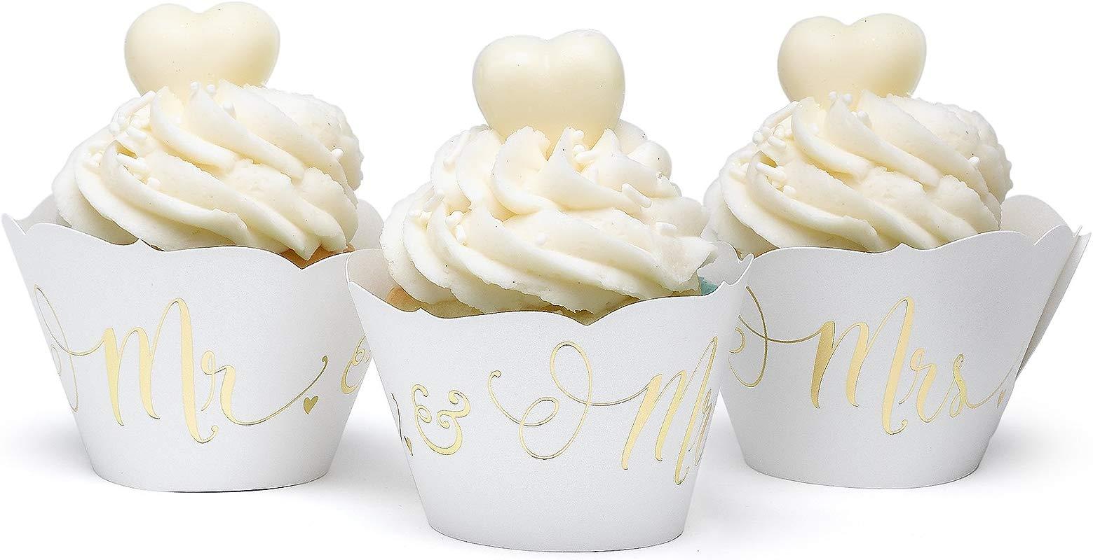 Hortense B Hewitt 55539 Gold Mrs Cupcake Wraps
