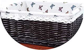 New Bamboo Weaving Storage Basket Fruit Picnic Basket Rattan Storage Box for Cosmetics Snacks Tea Book Organizer Handiwork,01,C,A(25x15x10 cm)