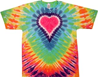 Cotton Pastel Tie Dye Heart Shirt Men Women Teens