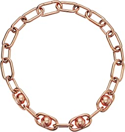 Pearl Link Collar Necklace