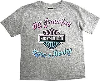 HARLEY-DAVIDSON Little Girls' My Grandpa Rides A Harley Toddler T-Shirt 1520750