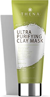Ultra Purifying Clay Face Mask With Anti aging Collagen Hyaluronic Acid Retinol Peptides Vitamin C & E, Best Organic Natur...