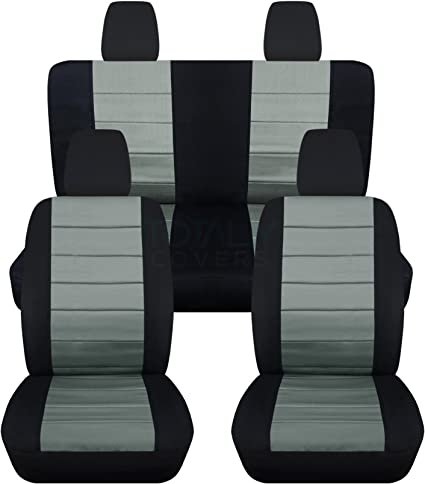 Designcovers Fits 2011 to 2012 Jeep Wrangler 4 Door Paw Prints 22 Color Options No Side Airbags, Black Brown
