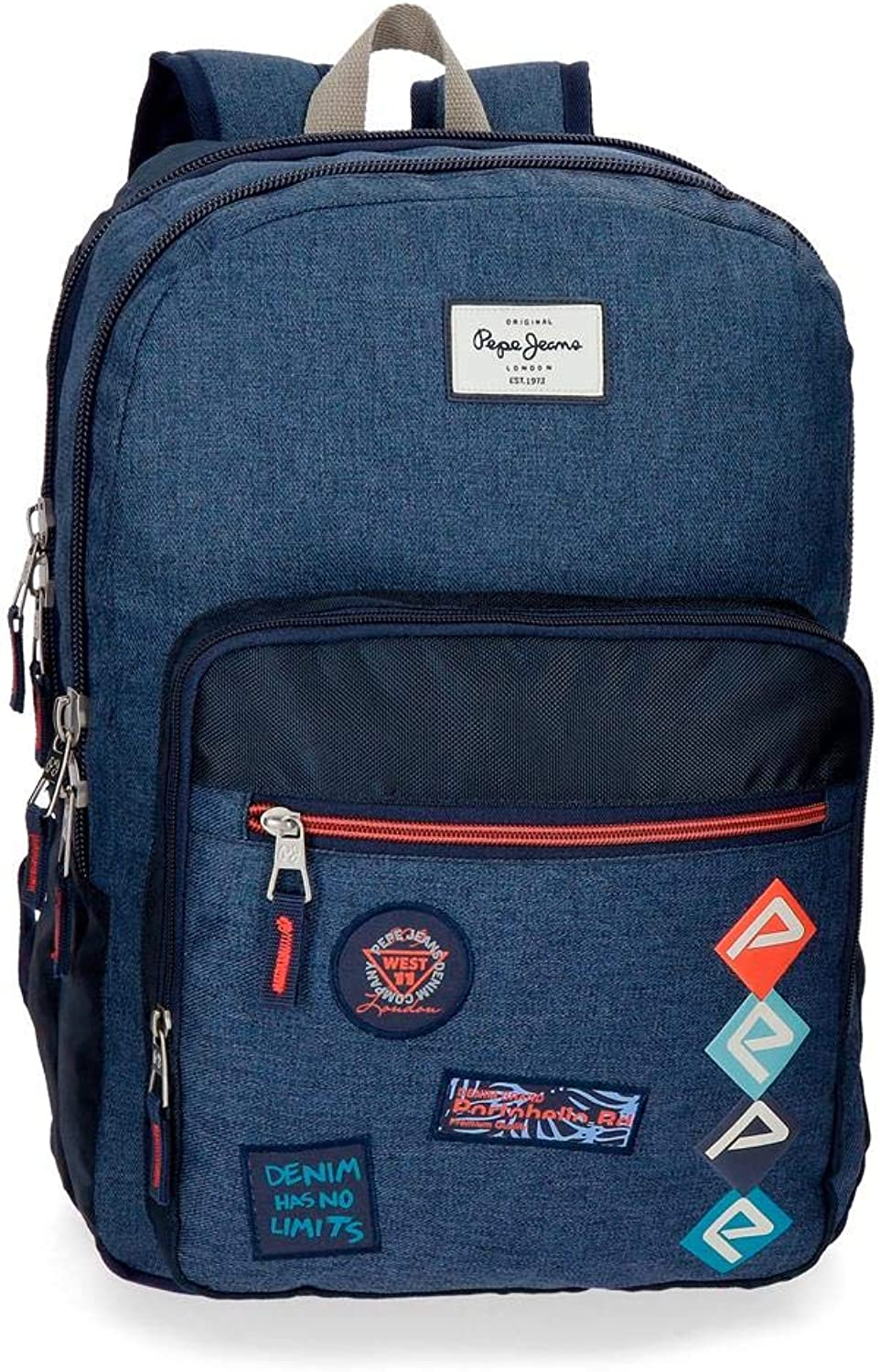Pepe Jeans Paul School Backpack 44 Centimeters 19.8 bluee (blue)