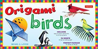Origami Birds Kit: Make Colorful Origami Birds with This Easy Origami Kit: Includes 2 Origami Books, 20 Projects & 98 High...