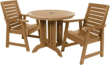 product image for highwood AD-DNW36-TFE Weatherly 3-Piece Round Dining Set, Toffee