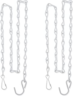 Gray Bunny Hanging Chain, 35 Inch, White, 2-Pack, for Bird Feeders, Planters, Fixtures, Lanterns, Suet Baskets, Wind Chimes and More! Outdoor/Indoor Use