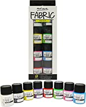 Mont Marte Fabric Paint Set - 8 Pieces x 20ml - Permanent Textile Paints Colors - Ideal for Clothing, Bags and All Fabrics - Perfect for Beginners and Professionals
