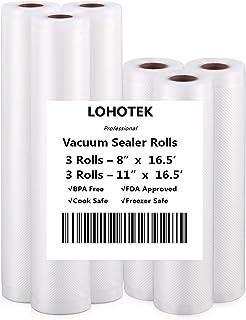 Vacuümmachine professionele folierollen, geschikt voor alle vacuümmachines 20 x 500 cm / 3 rollen en 28 x 500 cm / 3 rolle...