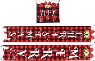 BOLORAMO Décorations de Noël de Porche, décorations de Noël Décorations de Porche d'extérieur pour Les Maisons Bureaux, ga...