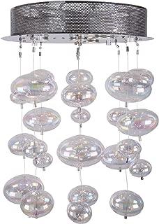 Bubbles 4 Light Flush Mount Chandelier Light in Chrome