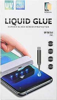 شاشة حماية زجاجية كاملة 9 اتش مع سائل نانو 2 قطعة لهاتف سامسونج جالاكسي S10 من موبيل سكرين - شفاف