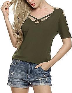 Lawzl Tops,Women Ladies O-Neck Print T-Shirt Sleeveless Casual Tops Blouse Vest Tank