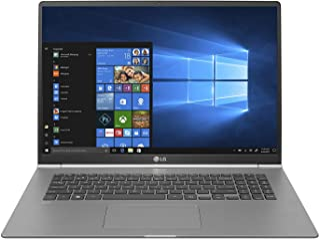 "LG gram Thin and Light Laptop - 17"" (2560 x 1600) IPS Display, Intel 8th Gen Core i7, 16GB RAM, 512GB SSD, up to 19.5 Hour Battery, Thunderbolt 3 - 17Z990-R.AAS8U1 (2019), Dark Silver"