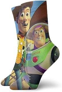 AIMHOUSE, Calcetines unisex para adultos casuales de la tripulación de dibujos animados de juguete de la historia de juguete calcetines unisex