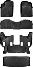 MAXLINER Floor Mats 3 Rows and Cargo Liner Behind 3rd Row Set Black for 2017-2018 Armada / 2011-2013 Infiniti QX56 / 2014-2018 QX80