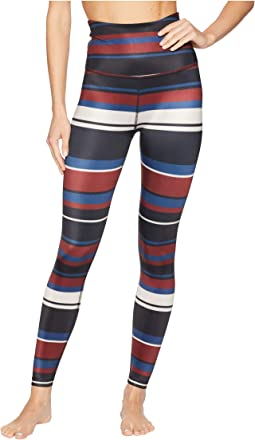 Stripe Lux High-Waisted Midi Leggings
