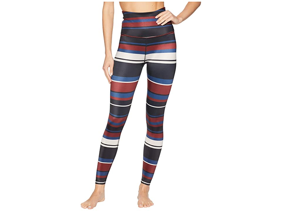 Beyond Yoga Stripe Lux High-Waisted Midi Leggings (Fallen Stripe) Women