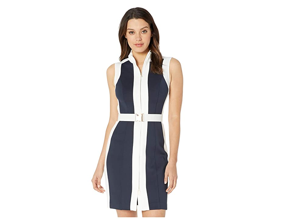 Tommy Hilfiger Heavyweight Scuba Dress (Sky Captain/Ivory) Women