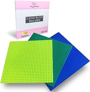 ( Radiant Party ) ブロック 基礎 板 クラシック用 互換品 32×32ポッチ 3枚セット (ライトグリーン・グリーン・ブルー)