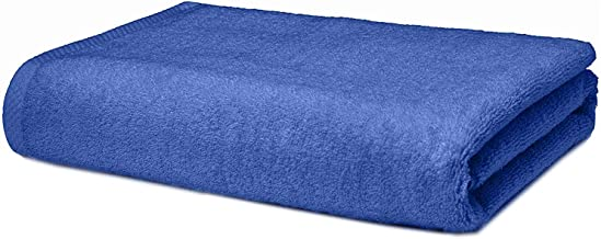 Roseate Ultra Soft 100% Cotton Large Bath Towel Super Absorbent/Anti Bacterial (550 GSM /70x140 cm) Blue