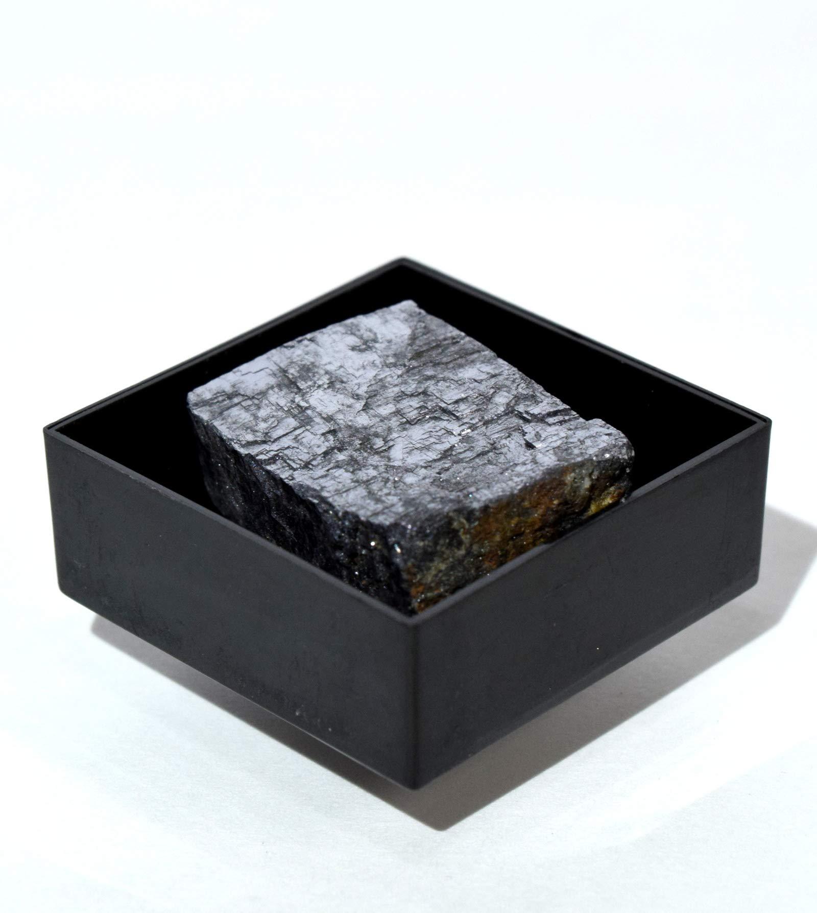 HQRP - Espejo de Galena Natural de 130 Quilates en Caja Brillante de Color Plateado con Piedras de Cristal minerales coleccionables – Marruecos: Amazon.es: Hogar