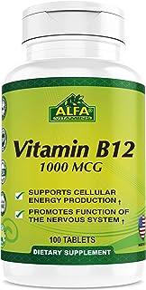 Vitamin B12 1000 Mcg 100 Tablets. Immune System. Nerves and Brain Health. Metabolism