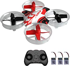 $29 » Mini Drone RC Nano Quadcopter for Kids and Beginners, RC Helicopter Plane with Auto Hovering, 3D Flip, Headless Mode and 3 Extra Batteries Toys for Boys and Girls … (Black)