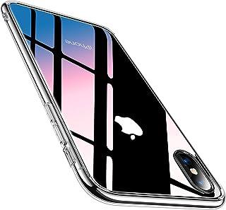 28b30cb084 TORRAS iPhone Xs ケース/iPhone X ケース 強化ガラス背面+TPUバンパー 薄型 透明