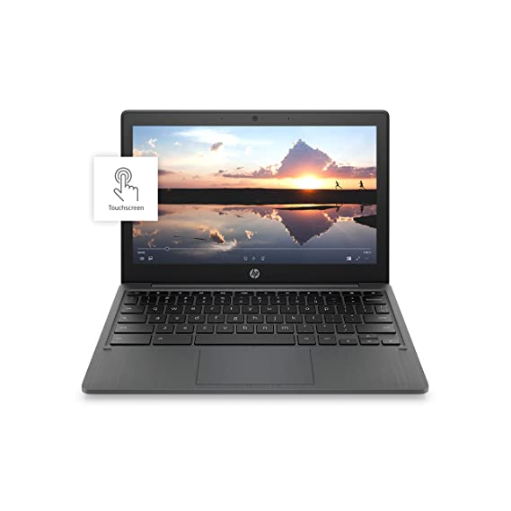 HP Chromebook 11-inch Laptop - MediaTek - MT8183 - 4 GB RAM - 32 GB eMMC Storage - 11.6-inch HD IPS Touchscreen - with Chrome OS - (11a-na0040nr, 2020 Model, Ash Gray)
