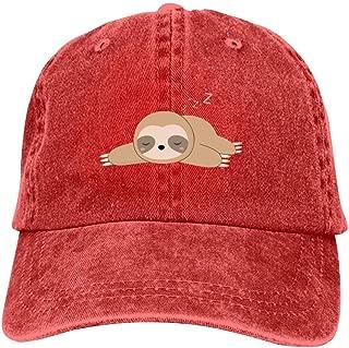 LeoCap Kawaii Lazy Sloth Baseball Cap Unisex Washed Cotton Denim Hat Adjustable Caps Cowboy Hats